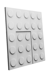 Panel 3D Blokker